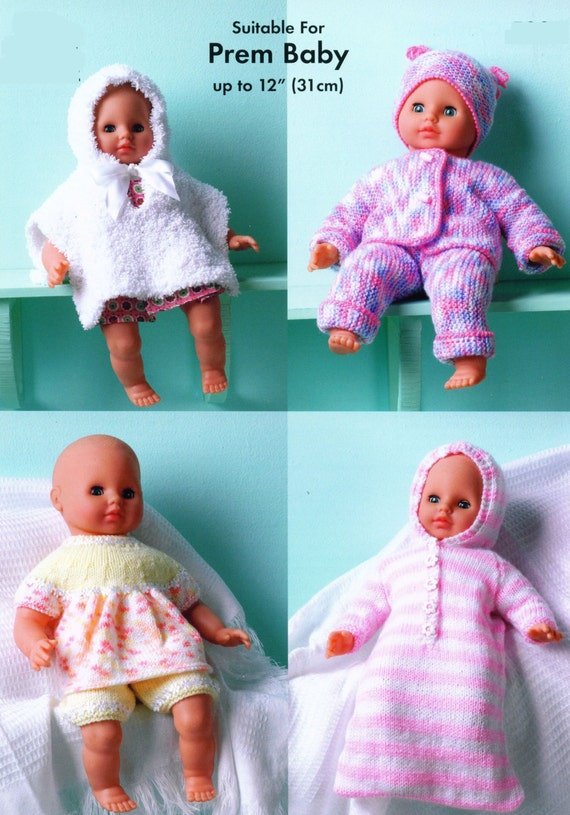 Knitting Pattern For Dolls Sleeping Bag : Knit Doll Clothes Vintage Knitting Pattern Sleeping Bag Angel