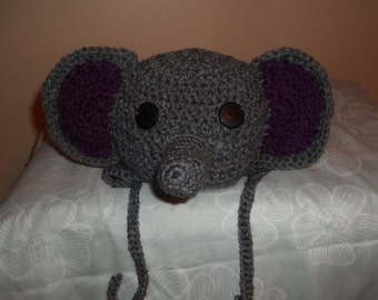 Elephant hat with ear flaps.