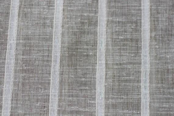 Fabric Sheer Fabric118 Sheer Stripe Linen Look Fabric