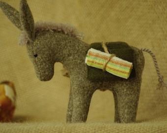Donkey waldorf animal // Nativity animal // Nativity Donkey