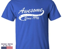 Awesome Since 1996 t shirt is a perfect 19th birthday gift