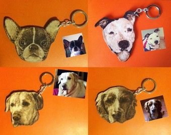 Keychain with portrait of your pet!