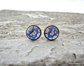 Floral Earrings, Flower Earrings, Floral Stud Earrings, Antique Earrings, Silver Earrings, Spring Jewelry, Floral Images Earring, Pattern 2