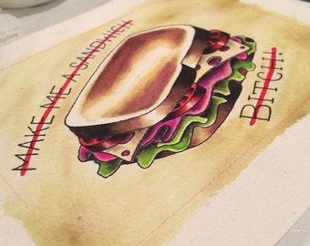 Tattoo Flash: Sandwich