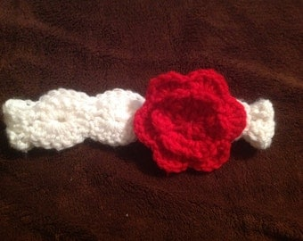 Crochet Flower Headband with Shell Stitch for Babies, Toddlers, or Adults