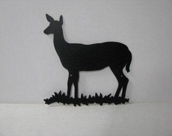 Deer Doe 003 Large Wildlife Metal Art Silhouette