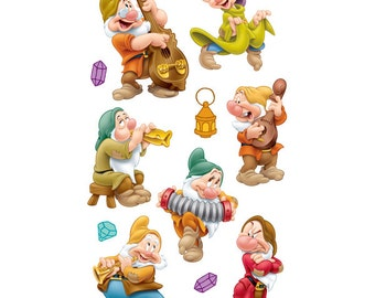 Disney 3 Dimensional Stickers with Foil Gem and Varnish Accents - Seven Dwarfs #51-50037
