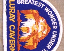 Luray Caverns Vintage Travel Patch from Voyager