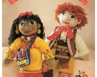 vintage Rosie and jim knitting pattern book DK