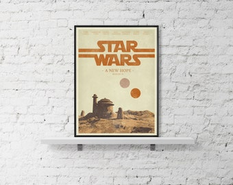 STAR WARS DIGITAL Download Inspired A New Hope Movie Wall Poster Print Geaorge Lucas Home Decore Art Print