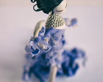 """Sold!!! Couture handmade doll """"Geisha"""", height 160 mm"""