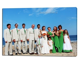Wedding Family Photo. Anniversary Gift Idea.  Gallery Wrapped Canvas Print.  Gift for a husband/ wife.