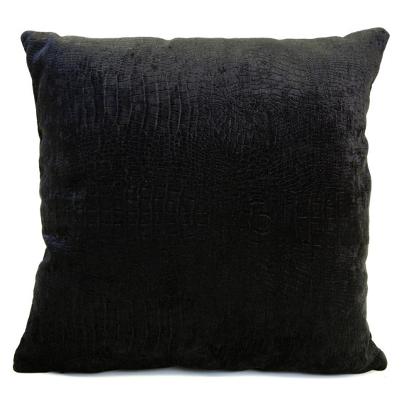 Chenille Throw Pillow Covers : Black Pillow Chenille Velvet throw Pillow cover Decorative