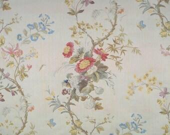 SCALAMANDRE MEISSEN SILK Lampas Damask Fabric 10 Yards Magnolia