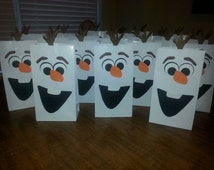 24 Olaf Party Favor Bags for angi012
