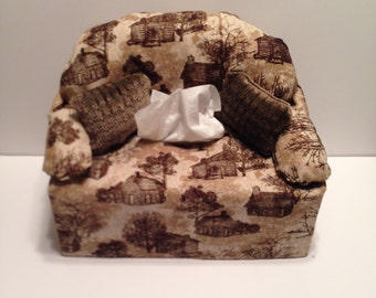 sofa couch tissue box cover-- log cabins & Couch tissue box | Etsy Aboutintivar.Com