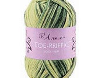 Yarn - 5th Avenue Toeriffic - Earth, Hot Cocoa, Loden, or Tawny