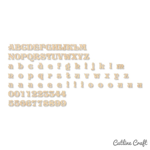 Vivian Font Cutout Shape Wooden Letters By Letterstyle On Etsy