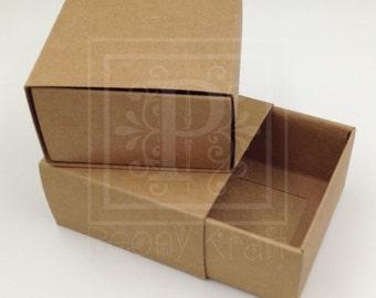 10pcs - Drawer Kraft Boxes, Wedding Favor Boxes, Party Favor Boxes, Holidays Gift Boxes, Jewelry Boxes, Soaps Boxes, Cookie Boxes, Kraft Box
