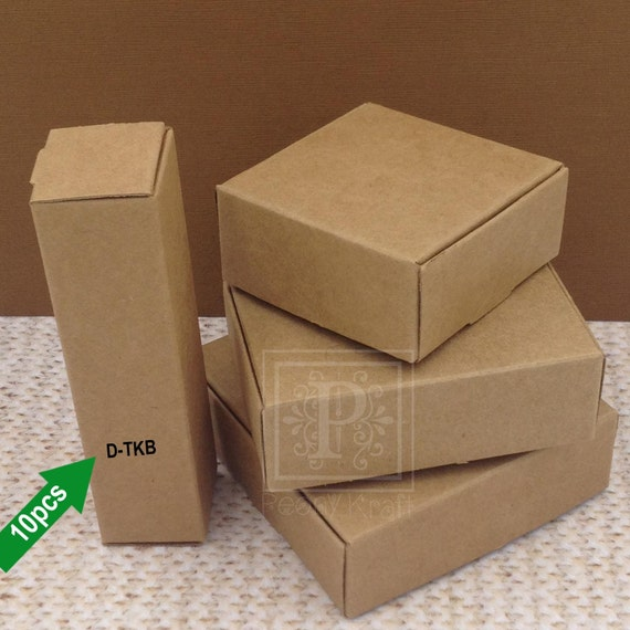 Set of small tube kraft boxes wedding favor party