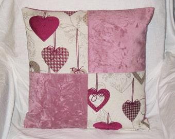 "Cushion ""Checkerboard Saint Valentin"" size 40X40cm"