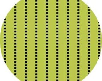 SALE Butterfly Swirl, Jackie Shapiro - Stripe in Lime  - 1 yard