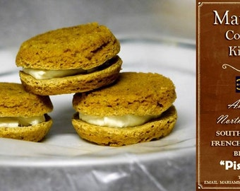 """6 """"Pistachio"""" NC Southern Style French Macaroon Biscuits"""