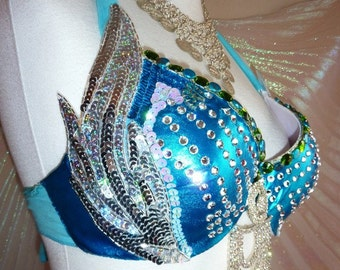 Bellydancebra in turquoise and silver, Cup C