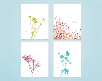 Stationery Hello Notecards Printables, Modern Organic Notes, Hello, Hola, Cíao, Bonjour, A6 Size, DIY, DOWNLOADABLE