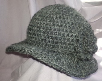 Adult Brimmed Cloche Hat with Rosette Detail-Comfortable feel good hat that looks great on anyone.