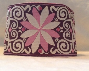 Brown and pink cuff