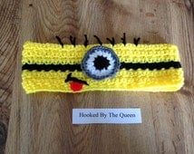 Despicable Me inspired Minion Headband - One Eye - Toddler to Adult