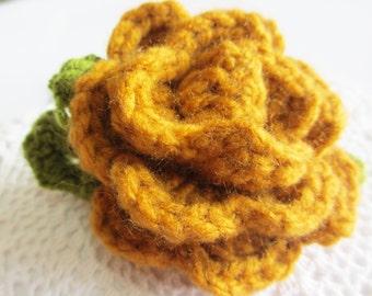 SALES 20% OFF Roses Crochet Hair Ties, Elastic hair ties, Flowers hair accessory, Red, White, Brown elastic hair tie, Flower Ponytail Holder