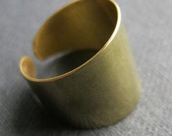 Armor ring, smooth, brass