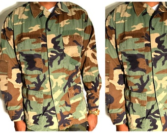 Authentic Camo Army Shirt Size L