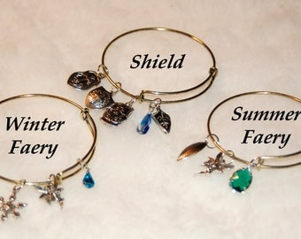 Adjustable Bangle Bracelet Inspired by The Dresden Files