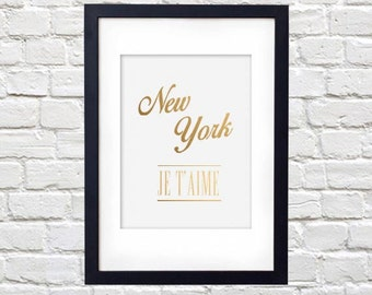 New York Je T'aime Printable