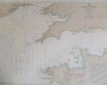 English Channel Nautical Chart