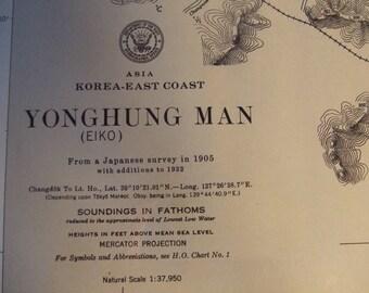 Asia - Korea - East Coast - Yonghung Man - Nautical Chart