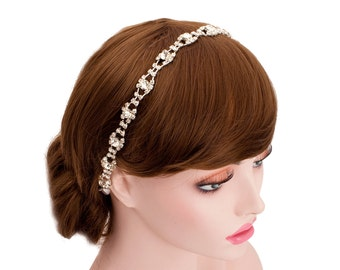 Fascinator Rhinestone Lace Headpiece,Wedding Bridal Hair,Bridesmaid Headband-WH10R17