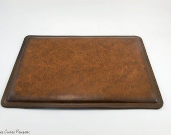 Brown Leather Mouse Pad - Office Mouse Pad