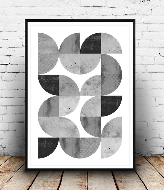 Minimalist abstract print geometric art print scandinavian Painting geometric patterns on walls