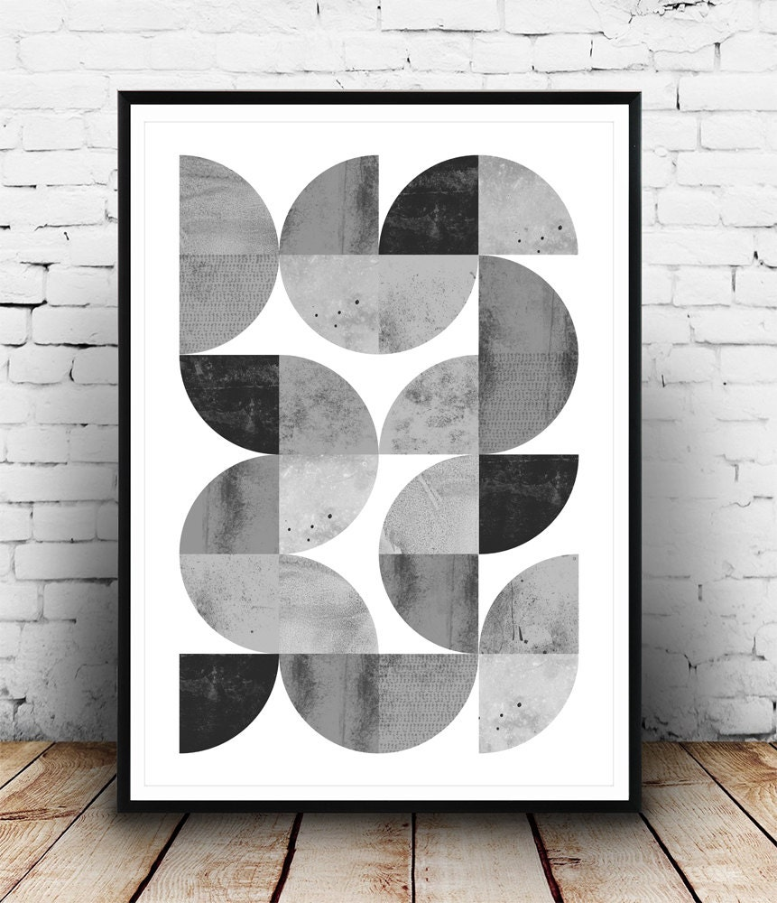 Minimalist abstract print geometric art print scandinavian for Minimalist wall art