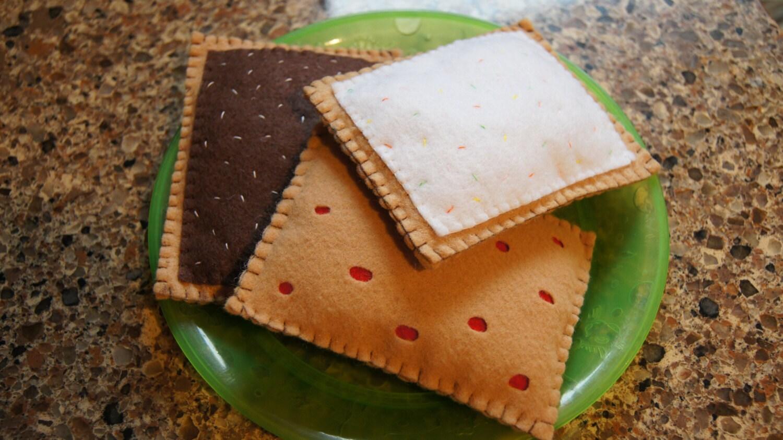 Felt Toaster Pastries Eco-friendly Toaster by TwoTinySunshines