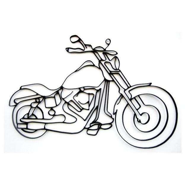 Harley Davidson Motorcycle 3D Metal Wall Art Decor By