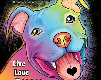 pitbull art, pit bull poster, Pit bull Art, Pit bull Art Print, Dog Art,