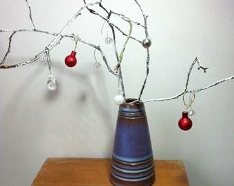 Ceramic cone vase height 10.5cm diameter 6cm  decoration not included