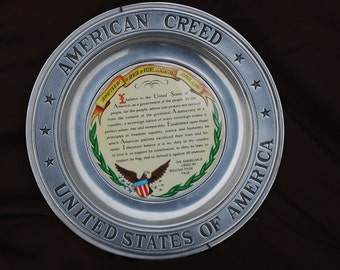 American Creed Pewter Plate