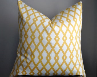 Yellow Pillow, Pillow Cover, Throw Pillow, 20 x 20 pillow cover, geometric pillow cover