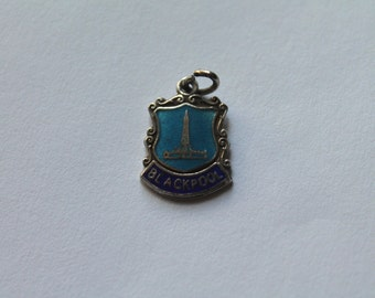 1960's silver and enamel  Blackpool shield charm